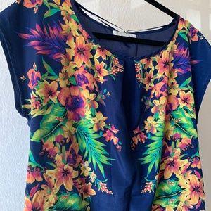 Olive & Oak Dresses - Summer Olive & Oak Navy / Floral Shift Dress